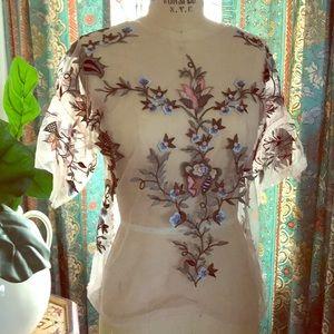 Fab Feminine  embroidery & appliqué blouse, WOW !